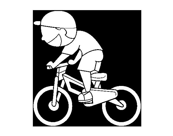 Coloriage de enfant cycliste pour colorier - Coloriage de cycliste ...