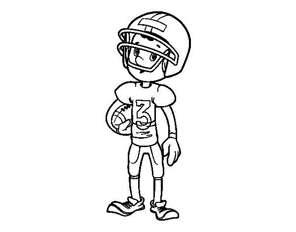 Coloriage de enfant joueur de rugby pour colorier - Dessin de joueur de rugby ...