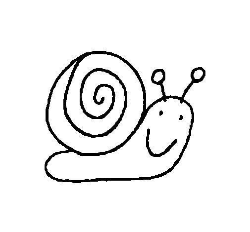 Coloriage de Escargot 4 pour Colorier