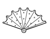 <span class='hidden-xs'>Coloriage de </span>Éventail avec topos à colorier
