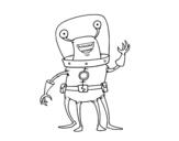 <span class='hidden-xs'>Coloriage de </span>Extraterrestre quatre pattes à colorier