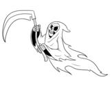 <span class='hidden-xs'>Coloriage de </span>Fantôme mort à colorier