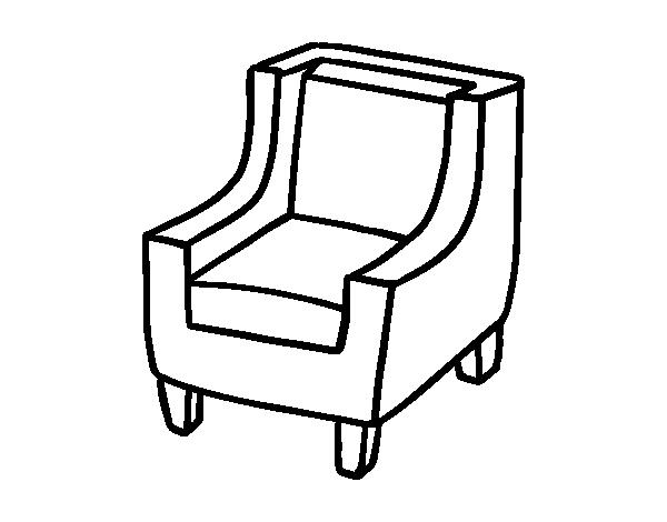 Coloriage de fauteuil confortable pour colorier - Fauteuille confortable ...