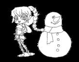 <span class='hidden-xs'>Coloriage de </span>Fée de neige à colorier