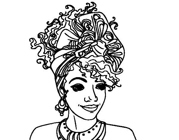 Coloriage de femme africaine pour colorier - Dessin africain a colorier ...