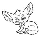 <span class='hidden-xs'>Coloriage de </span>Fennec à colorier