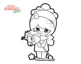 <span class='hidden-xs'>Coloriage de </span>Fille déguisée Kawaii à colorier