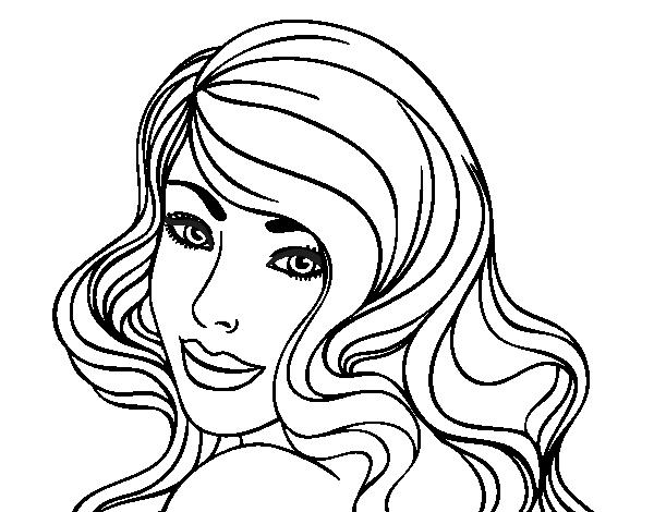 Coloriage de fille jeune pour colorier - Dessin de jeune fille ...