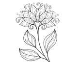 <span class='hidden-xs'>Coloriage de </span>Fleur décorative à colorier