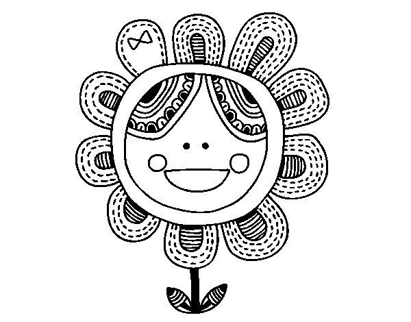 Coloriage de Fleur patchwork pour Colorier