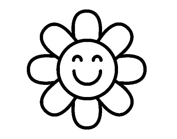 Coloriage de Fleur simple pour Colorier
