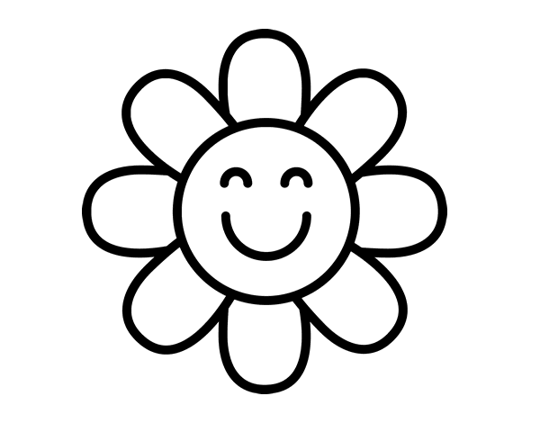 Coloriage de fleur simple pour colorier - Image fleur dessin ...