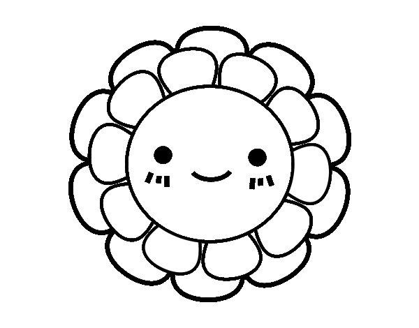 Coloriage de Fleurette enfantin pour Colorier