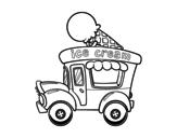 <span class='hidden-xs'>Coloriage de </span>Food truck de crème glacée à colorier