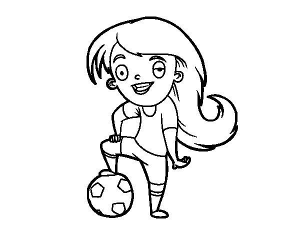 Coloriage de Football féminin pour Colorier