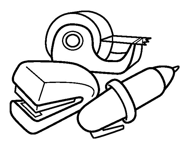 Coloriage de fournitures scolaires pour colorier for Fournitures scolaires en ligne