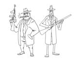 <span class='hidden-xs'>Coloriage de </span>Gangsters à colorier