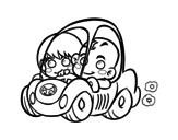 Dibujo de Garçons conduisant
