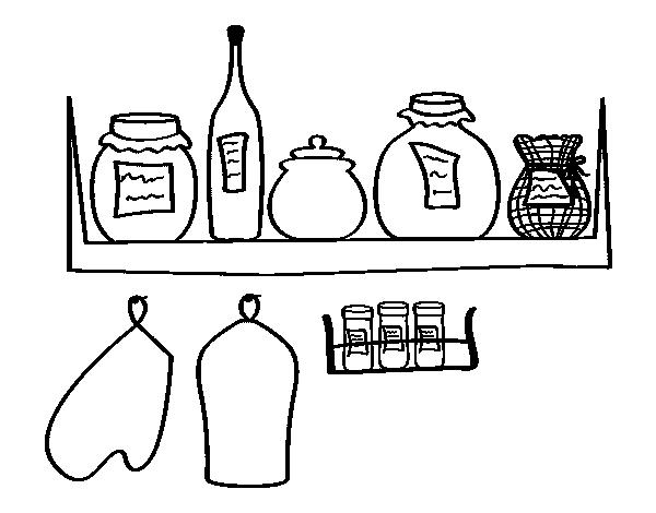 Coloriage de garde manger pour colorier - Utensilios de cocina para pintar ...
