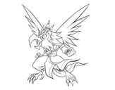 <span class='hidden-xs'>Coloriage de </span>Garuda à colorier