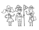 <span class='hidden-xs'>Coloriage de </span>Girl Scouts à colorier