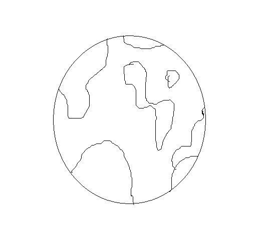 Coloriage de Globe pour Colorier