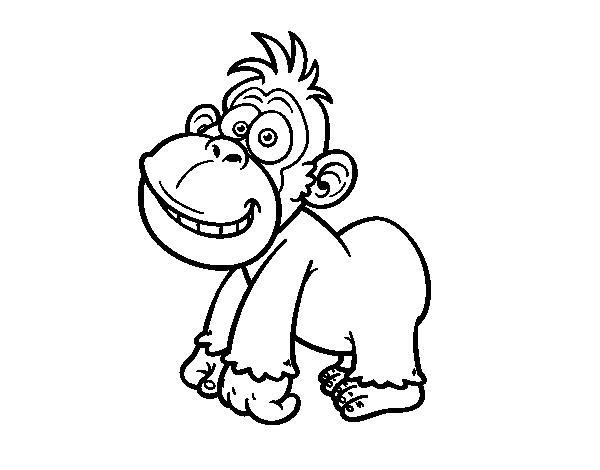 Coloriage de gorille de l 39 est pour colorier - Gorille coloriage ...
