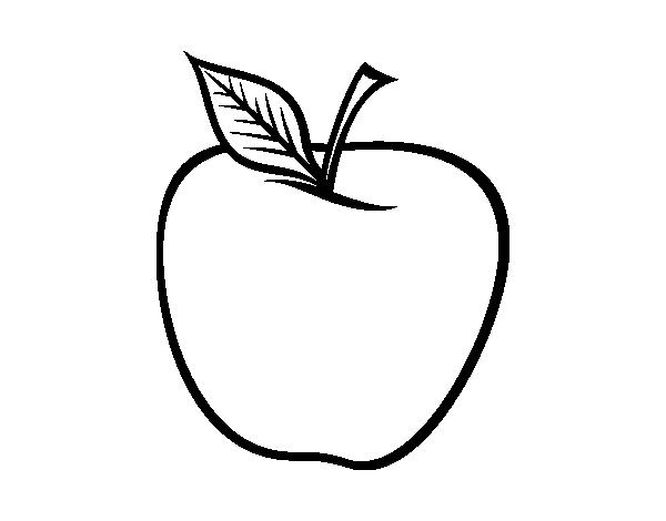 Coloriage de grande pomme pour colorier - Dessin pomme a colorier ...