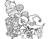 <span class='hidden-xs'>Coloriage de </span>Gretel et la sorcière à colorier