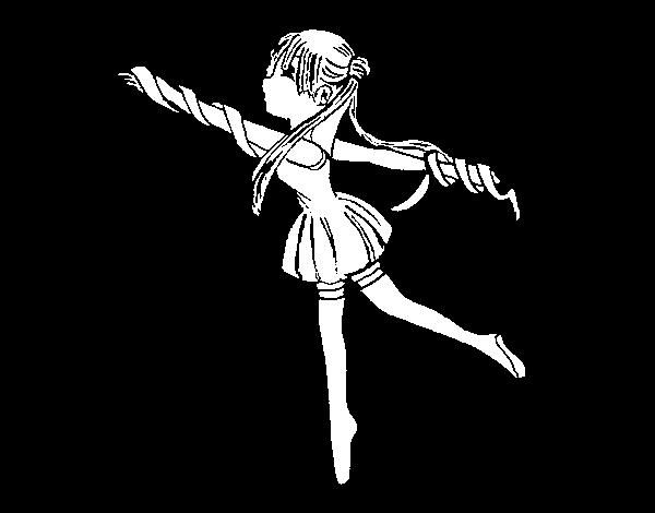 Coloriage de gymnastique rythmique pour colorier - Dessin de grs ...