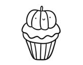 <span class='hidden-xs'>Coloriage de </span>Halloween cupcake à colorier