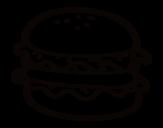 <span class='hidden-xs'>Coloriage de </span>Hamburger avec salade à colorier