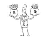 Dibujo de Homme d'affaires corrompu
