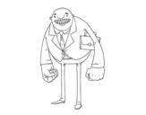 Dibujo de Homme de grands poings