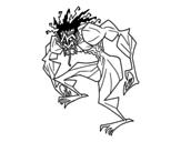 <span class='hidden-xs'>Coloriage de </span>Homme troll à colorier