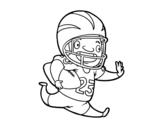 <span class='hidden-xs'>Coloriage de </span>Joueur de football américain à colorier