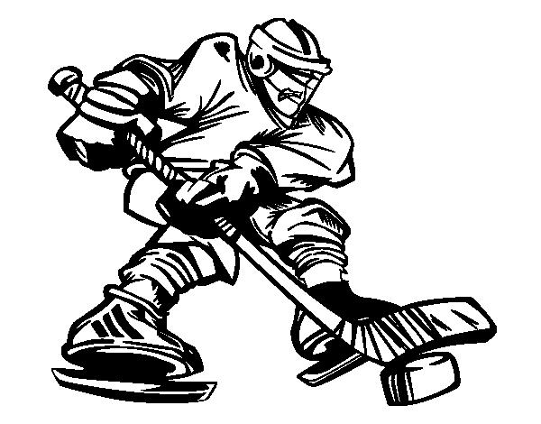 Coloriage de joueur de hockey professionnel pour colorier - Coloriage professionnel ...