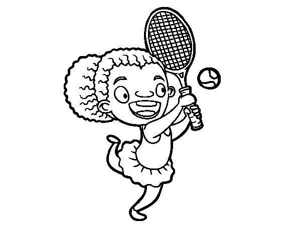 Coloriage de Joueur de tennis pour Colorier
