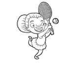 <span class='hidden-xs'>Coloriage de </span>Joueur de tennis à colorier