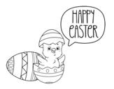 <span class='hidden-xs'>Coloriage de </span>Joyeuses Pâques à colorier