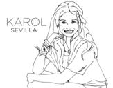 <span class='hidden-xs'>Coloriage de </span>Karol Sevilla de Soy Luna à colorier