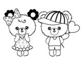 <span class='hidden-xs'>Coloriage de </span>Kawaii ours amor à colorier