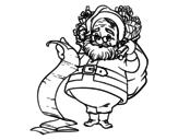 <span class='hidden-xs'>Coloriage de </span>La liste du Père Noël à colorier