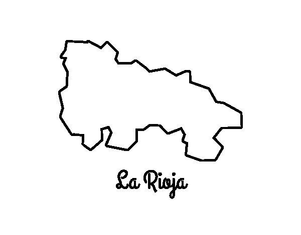 Coloriage de La Rioja pour Colorier