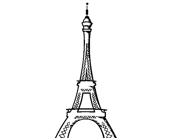 Coloriage de la tour eiffel pour colorier - Image tour eiffel a imprimer ...