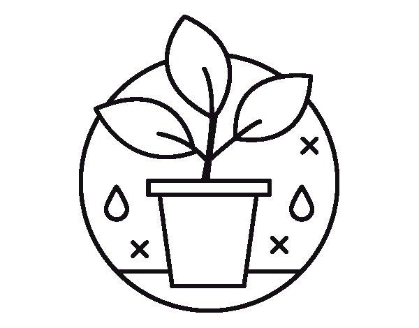 Coloriage de  l'Agriculture biologique pour Colorier