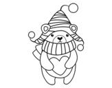<span class='hidden-xs'>Coloriage de </span>L'amour d'hiver à colorier