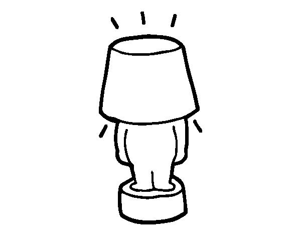 Coloriage de lampe dr le pour colorier - Coloriage lampe ...