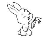 <span class='hidden-xs'>Coloriage de </span>Lapin souriant à colorier