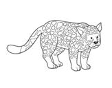 <span class='hidden-xs'>Coloriage de </span>Le guépard féroce à colorier